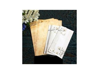 国风信封信纸套装 沐兰 明信片贺卡收纳袋邀请函祝福卡牛皮纸信封